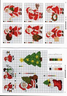 Gallery.ru / Photo # 5 - 184 - Auroraten Cross Stitch Christmas Ornaments, Christmas Tree Pattern, Christmas Sewing, Christmas Embroidery, Christmas Cross, Christmas Images, Santa Cross Stitch, Counted Cross Stitch Patterns, Cross Stitch Charts