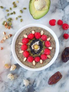 Decorate your breakfast! This amazingly delicious and creamy avocado smoothie bowl is packed with nutritious ingredients that will keep you or your kids going strong all day!