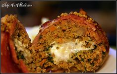 Paleo Bacon-Wrapped Spinach Meatloaf (Gorgonzola-Stuffed). gonna try this tomorrow!