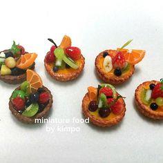 Miniature food 수지점토. 12분에 1 사이즈