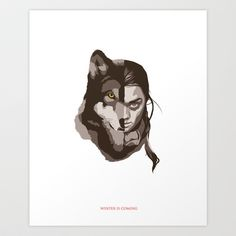 She-wolf Art Print by Brian J. Smith - $20.00