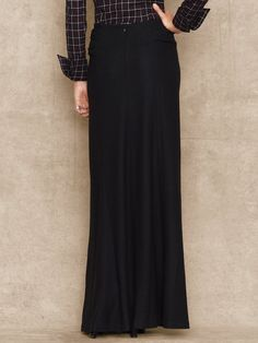Morgan Black Wool Maxi Skirt -Such an easy piece to pair boots with