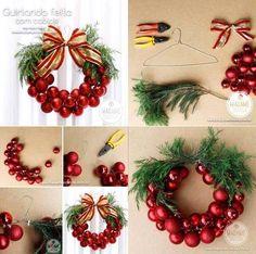 Plein de tutos pour faire une couronne de Noël http://www.nafeusemagazine.com/Faire-une-couronne-de-Noel-les-tutos_a924.html