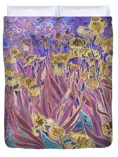 David Bridburg Duvet Cover featuring the digital art Inv Blend 6 Van Gogh by David Bridburg