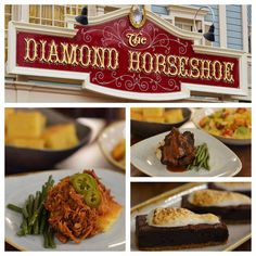 A new table-service dining option is coming to Magic Kingdom Park, as The Diamond Horseshoe will serve lunch and dinner daily beginning March Reservations are now available for dates from March 13 to May 2016 for this all-you-care-to-enjoy saloon feast. Dining At Disney World, Disney Dining Tips, Disney Tips, Disney Food, Disney World Restaurants, Disney World Resorts, Disney Vacations, Vacation Food, Disney World News
