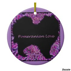 Pomeranian Love Ornament by Carol Zeock