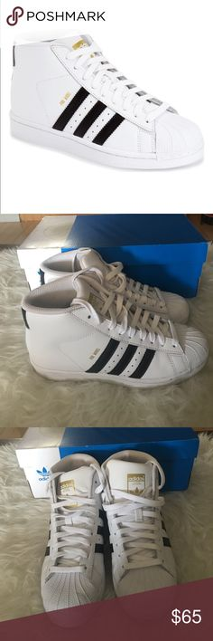 Adidas pro model J Used great condition only worn once ships with box size 4.5 fits women's 6 adidas Shoes Sneakers