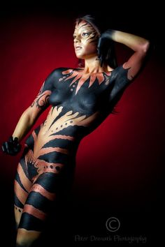airbrush body art | Body Painting Bolet: Tribal Airbrush Body Painting Woman