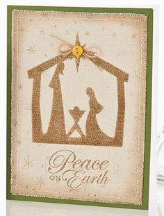 Nativity Christmas Card on canvas
