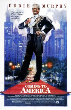 """""""Coming To America"""" movie poster, 1988. Humorist Art Buchwald claimed he sold Paramount a story in 1980 that was fashioned into """"Coming To America"""". The lawsuit went on for months - Paramount actually claimed in court that despite the movie earning $288 million at the box office, the film lost money. It was eventually settled out of court."""