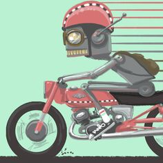Robot Art by Matt Q. Spangler Image of Hip and a smile