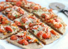 Delicious gluten-free flatbread that can double as a pizza base, made with buckwheat!