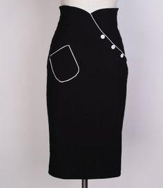 fb2d76984f rockabilly pencil skirt black 015 Vintage Fashion 1950s, Vintage Clothing,  Vintage Outfits, Vintage