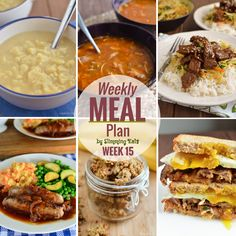 Slimming Eats Weekly Meal Plan - Week 15 - What better way to get back into healthy eating with a meal plan all worked out for you.