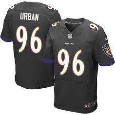 Nike Elite Brent Urban Black Men's Jersey - Baltimore Ravens #96 NFL Alternate
