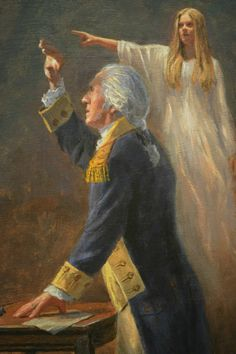 """The Angel of Liberty."" George Washington is beholding a vision. Jon McNaughton will have this beautiful piece of art available very soon. Such great work! Link takes you to site. American Independence, American Presidents, American History, American War, American Soldiers, British History, Native American, Jon Mcnaughton, American Revolutionary War"