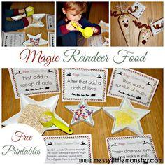 Magic Reindeer Food and Printable
