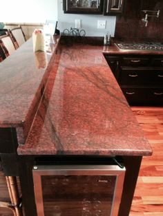Red Dragon Granite Counter Tops Done By Gcr Granite Red Granite Countertops Granite Countertops Kitchen Granite Countertops