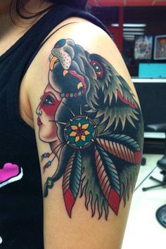 Native American Arrow Tattoo | ... thumbnails to view image - Use right and left arrow keys to navigate
