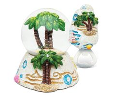 Puzzled Palm Tree Resin Stone Finish Collection including Snow Globe, and Magnet Bottle Opener - Unique Elegant Gift and Souvenir ** Additional details at the pin image, click it  : Home Decor Snow Globes