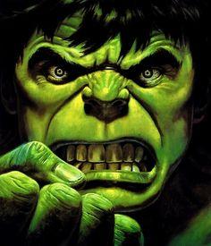 "I've been know to ""HULK OUT"" a time or two!  I'm only Angry because I care.  You won't like me when I'm Angry! Hulk - art by Bob Larkin"