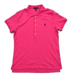 $32.48 - Ralph Lauren Sport Women's Interlock Polo Shirt Paradise Pink #ralphlauren