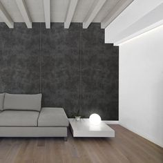 llll➤ Wall panel concrete look WallFace 19092 CEMENT DARK textured Decor Panel stone look matt self-adhesive anthracite - interior design ideas and pictures ►Best price ✈ Worldwide Shipping ⭐ Best quality 💕Original products ✔Official warranty Sibu, Interior Walls, Interior Design, Concrete, Stone, Bedroom, Architecture, House Styles, Wallpaper Wa