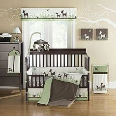 nursery bedding.. deer of course!