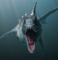 In prehistoric times the seas rivers and swamps could be just as deadly as dry land. by uri aloni Dinosaur Photo, Dinosaur Images, Dinosaur Pictures, Fantasy Creatures, Mythical Creatures, Sea Creatures, Prehistoric Wildlife, Prehistoric Creatures, Dinosaur Drawing