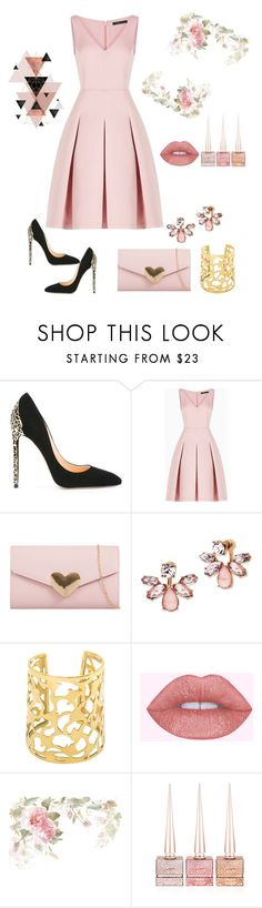 """""""Dinner with friends"""" by aminadj ❤ liked on Polyvore featuring Cerasella Milano, BCBGMAXAZRIA, Marchesa and Christian Louboutin"""