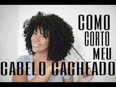 COMO CORTO O MEU CABELO CACHEADO EM CASA - YouTube
