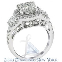 4.05 Carat H-VS2 Radiant Cut Natural Diamond Engagement Ring 14K Vintage Style - Vintage Style Engagement Rings - Engagement - Lioridiamonds.com