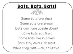 "This Interactive Poetry Notebook FREEBIE will make your students go ""batty!"" Includes a poem about bats (full-size and student notebook size), a foldable activity, writing extension, and 4 poetry station activities for the week!  http://www.teacherspayteachers.com/Product/October-Bat-Poem-Activities-FREE-Sample-from-Interactive-Poetry-Notebook-1460511"