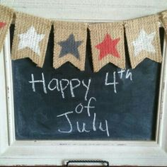 Let your patriotic colors shine through with a mini banner of stars in red, white and blue