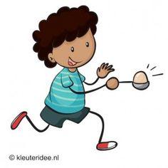Eierrace, outdoor spelen voor kleuters, kleuteridee.nl .