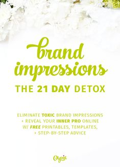 This free Brand Detox challenge for bloggers and business owners will help you take your online brand and turn it into something that gives a GREAT first (plus second, third, and fourth) impression. It comes with printables, templates, wallpaper, wall art, and oh yeah: super helpful advice!