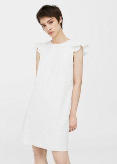 Textured ruffled dress | MANGO