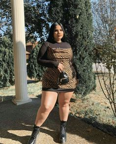 Thick Girls Outfits, Curvy Girl Outfits, Plus Size Outfits, Thick Girl Fashion, Plus Size Fashion For Women, Curvy Fashion, Looks Plus Size, Look Plus, Modelos Plus Size