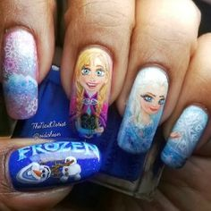 Are you obsessed with #Frozen ? Then you're going to love these nail art designs!   Get inspired HERE---> http://www.panlishop.com/Product/List.html?keyword=假指甲&source=pinterest