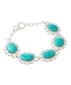 Another great find on #zulily! Turquoise Oval Bracelet #zulilyfinds #jewelry #jewelrysale #sale #fashion #fashionjewelry #pavcusdesigns #pavcus #womensfashion #womensjewelry #holidaysale #holidaygift #giftidea #bling #bracelet #earrings #necklace #giftforher #NewYearsSale #NewYearSale #2018fashion #2018style