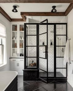 """DECOR STEALS on Instagram: """"Drop a 😍 if you wish you had a stunning walk-in shower like this one!   (📸 @changoandco & @crisparchitects)⠀  ⠀ Tag @decorsteals and…"""" Design Blogs, Diy Design, Home Design, Interior Design, Design Ideas, Farmhouse Homes, Farmhouse Decor, Farmhouse Style, Farmhouse Plans"""