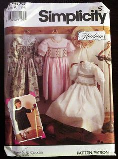 Simplicity 7400 Child's Dress with Smocking Variations