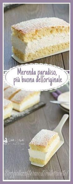 Merenda Paradiso più buona dell'originale Sweet Recipes, Cake Recipes, Dessert Recipes, Torte Cake, Italian Desserts, Sweet Cakes, Yummy Cakes, Love Food, Food To Make