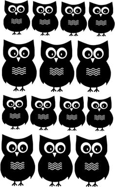 Hoot owl wall decals! What a great idea for a childrens room.