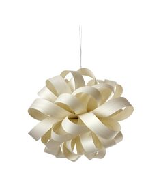 LZF Lamps   Agatha, Ball Suspension Lamp in ivory white   Wood touched by Light   Handmade Wood Lighting since 1994