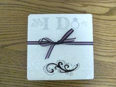 Photo Books I Make      que linda tarjeta de casamiento