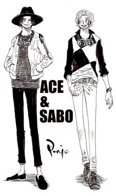 Ace and Sabo - One Piece Fall Fashion