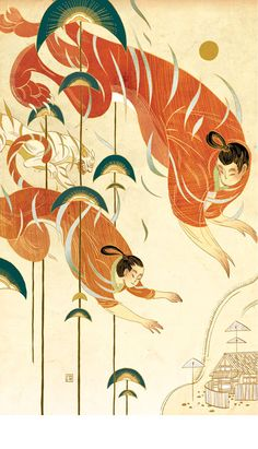 Another of Victo Ngai's images for Chinese Fairy Tales & Fantasies