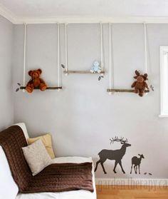 Um lar para Amar - maternidade e decoração.: Prateleiras com galhos: Inspiração para quarto de criança.
