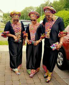 Ankara on plain African Dresses For Women, African Print Dresses, African Attire, African Women, African Fashion Ankara, Latest African Fashion Dresses, African Print Fashion, Moda Afro, Arte Tribal